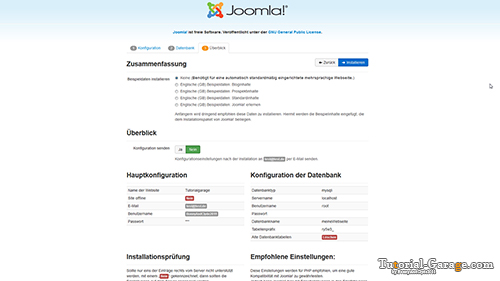 Joomla Installation Ueberblick preview